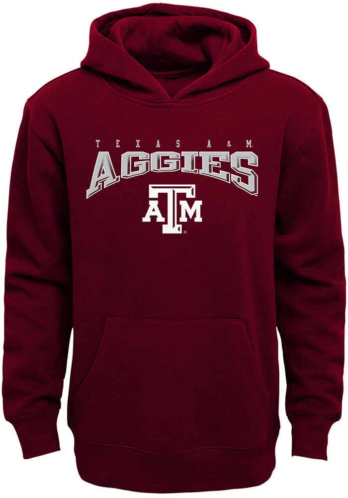 Texas A&M Aggies Youth Maroon Fadeout Long Sleeve Hoodie - Image 1