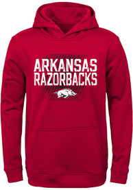 Arkansas Razorbacks Youth Attitude Hooded Sweatshirt - Cardinal