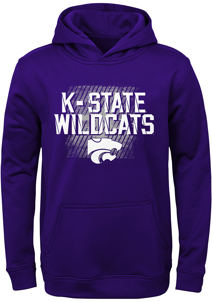 K-State Wildcats Youth Purple Attitude Long Sleeve Hoodie - Image 1