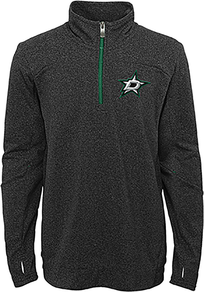 Dallas Stars Boys Black Polymer Long Sleeve 1/4 Zip Pullover - Image 1