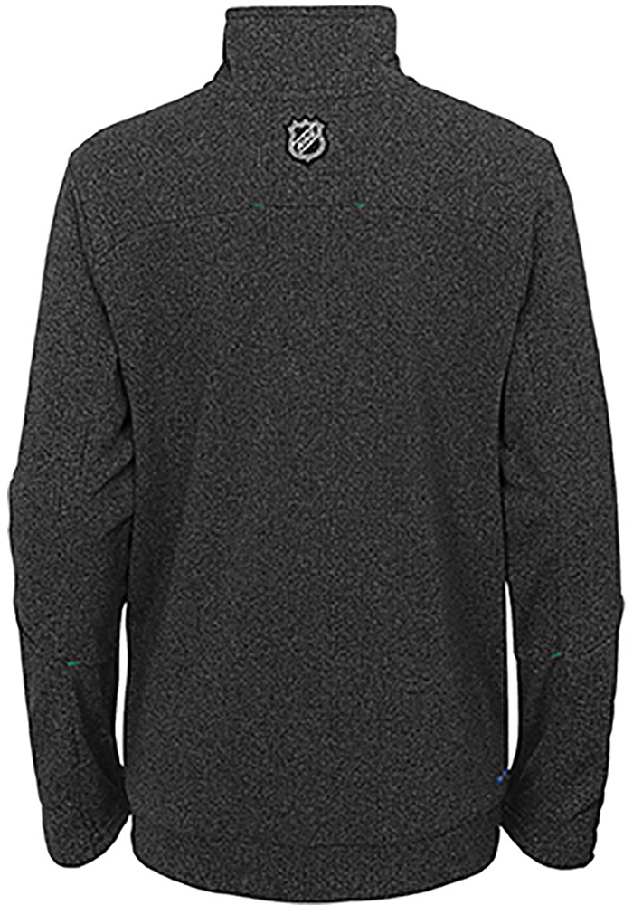 Dallas Stars Boys Black Polymer Long Sleeve 1/4 Zip Pullover - Image 2