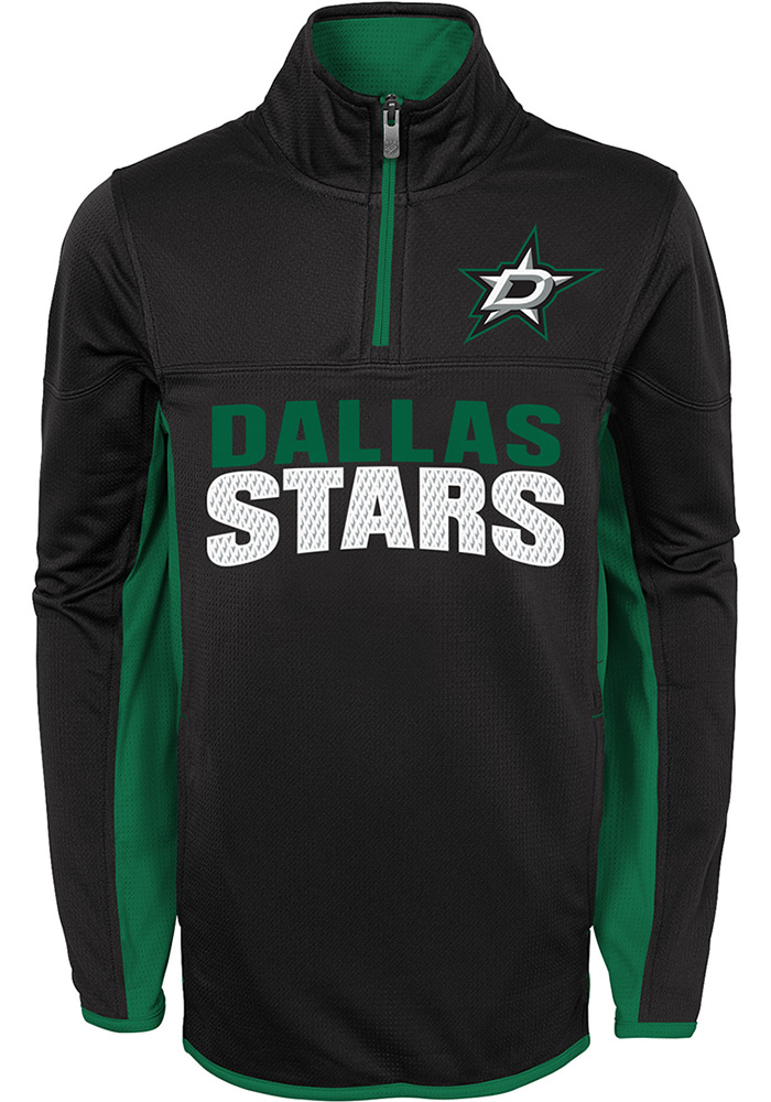 Dallas Stars Boys Black Netminder Long Sleeve 1/4 Zip Pullover - Image 1