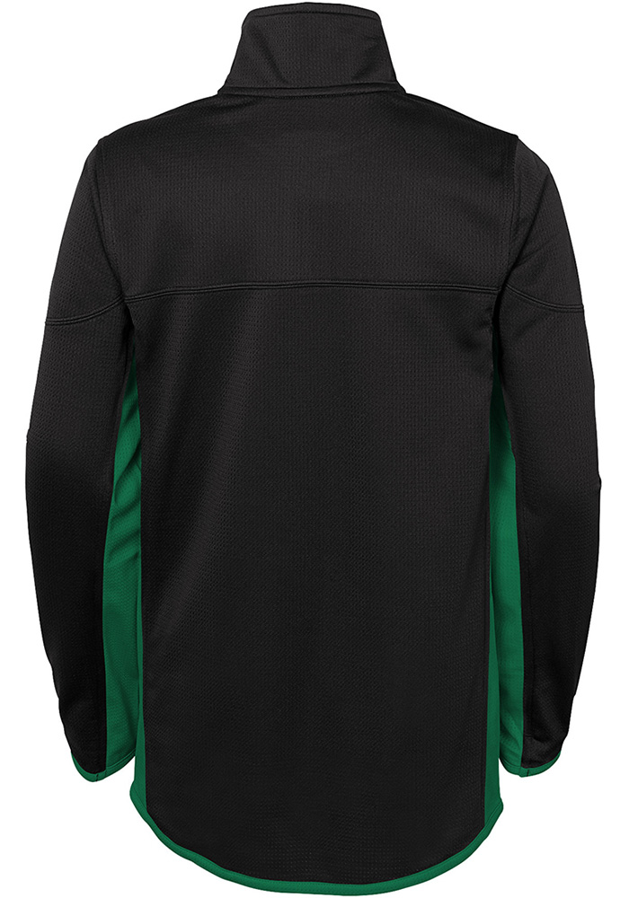 Dallas Stars Boys Black Netminder Long Sleeve 1/4 Zip Pullover - Image 2