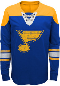 St Louis Blues Boys Perennial Crew Sweatshirt - Blue