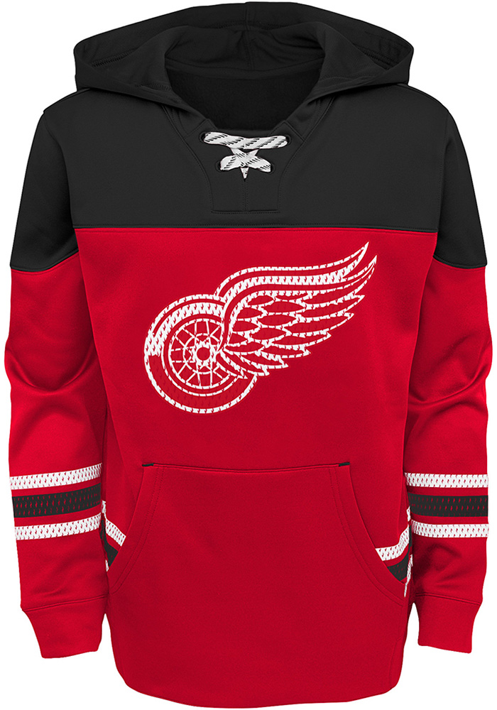 Detroit Red Wings Boys Red Freezer Long Sleeve Hooded Sweatshirt - Image 1