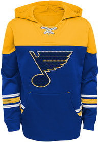 St Louis Blues Boys Freezer Hooded Sweatshirt - Blue
