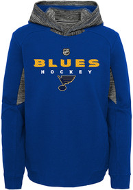 St Louis Blues Boys Hyper Physical Hooded Sweatshirt - Blue