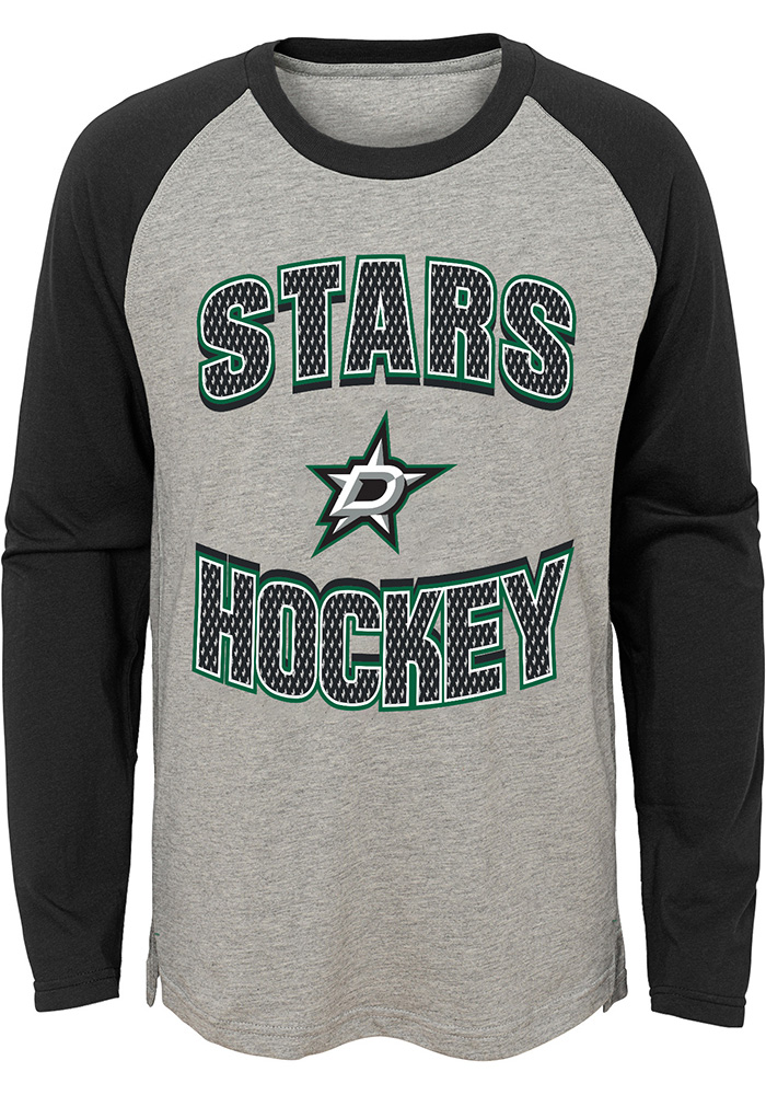 Dallas Stars Boys Grey Assist Long Sleeve Fashion T-Shirt - Image 1