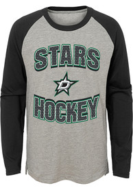Dallas Stars Boys Assist Fashion T-Shirt - Grey