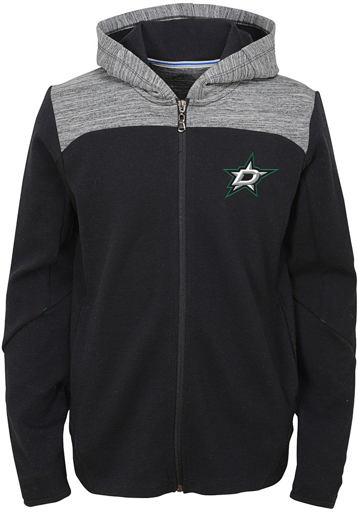 Dallas Stars Boys Black Centripedal Long Sleeve Full Zip Hooded Sweatshirt - Image 1