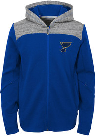 St Louis Blues Boys Centripedal Full Zip Hooded Sweatshirt - Blue