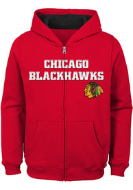 Chicago Blackhawks Boys Prime Full Zip Hooded Sweatshirt - Red