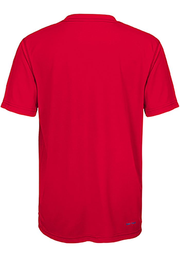 Detroit Red Wings Boys Red Avalanche Short Sleeve Fashion Tee - Image 2