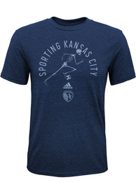 Sporting Kansas City Boys To The Grave Fashion Tee - Navy Blue