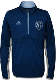 Sporting Kansas City Youth Excellence Quarter Zip - Light Blue