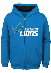 Detroit Lions Youth Stated Full Zip Jacket - Blue