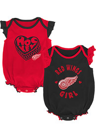 Detroit Red Wings Baby Hockey Kids One Piece - Red