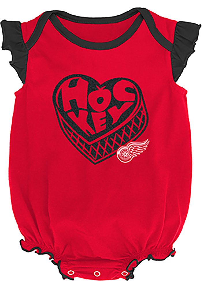 Detroit Red Wings Baby Red Hockey Kids Set One Piece - Image 3