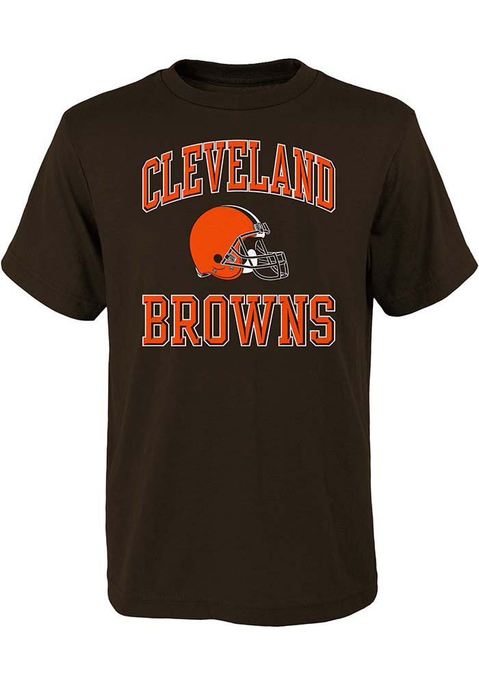 Cleveland Browns Youth Brown Ovation Short Sleeve T-Shirt - Image 1