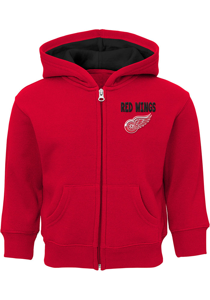 Detroit Red Wings Baby Enforcer Long Sleeve Full Zip Sweatshirt - Red - Image 1