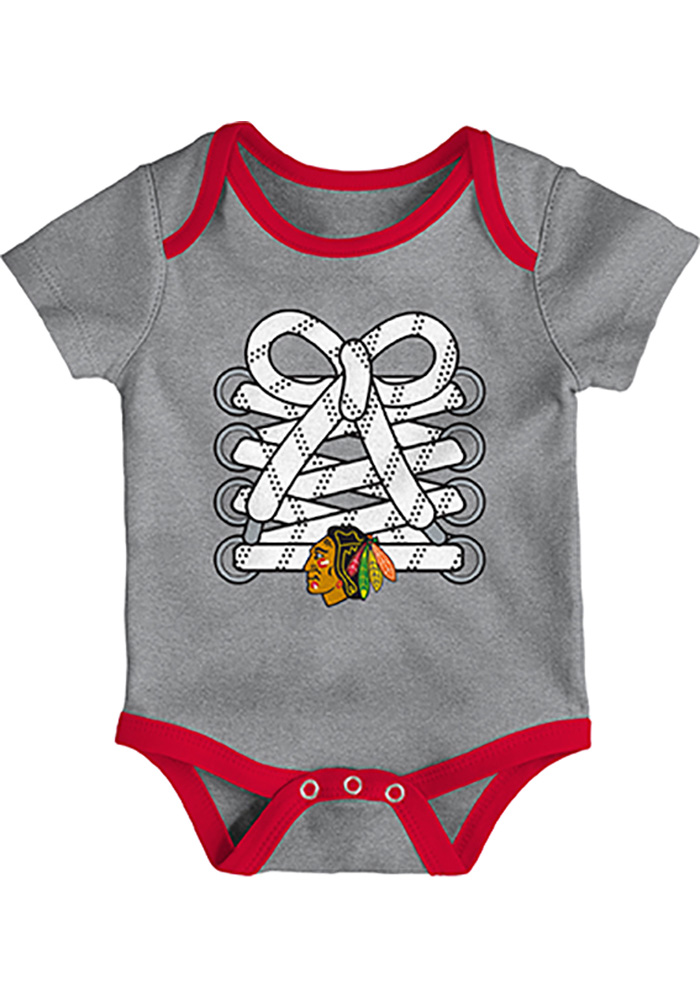 Chicago Blackhawks Baby Red Five on Three One Piece - Image 3
