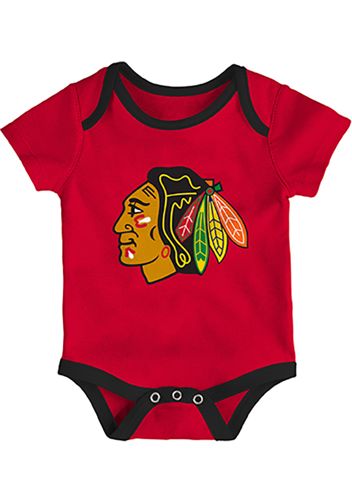 Chicago Blackhawks Baby Red Five on Three One Piece - Image 4