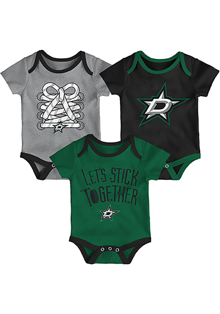 Dallas Stars Baby Black Five on Three One Piece - Image 1