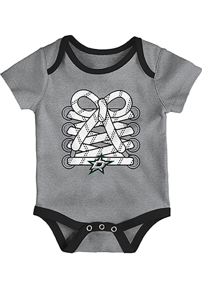Dallas Stars Baby Black Five on Three One Piece - Image 3