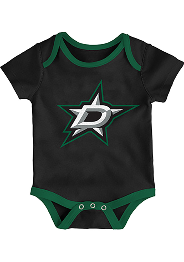 Dallas Stars Baby Black Five on Three One Piece - Image 4