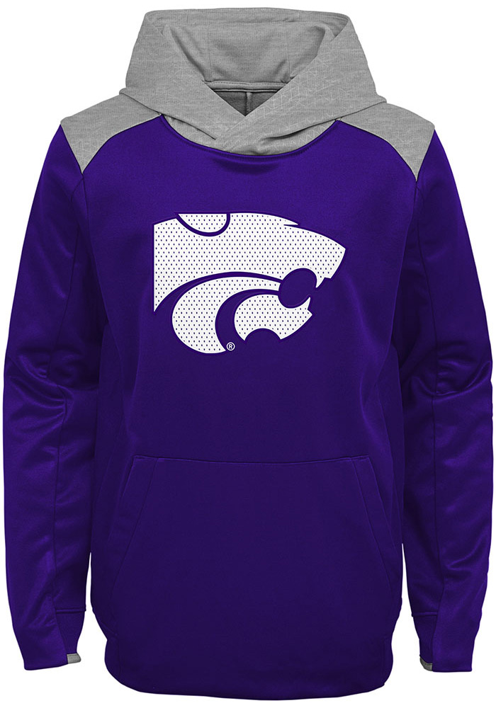 K-State Wildcats Youth Purple Off The Grid Long Sleeve Hoodie - Image 1