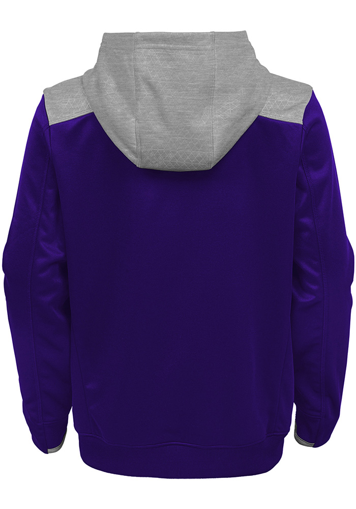 K-State Wildcats Youth Purple Off The Grid Long Sleeve Hoodie - Image 2
