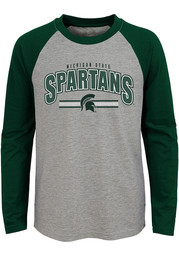 Michigan State Spartans Youth Grey Audible Long Sleeve Fashion T-Shirt