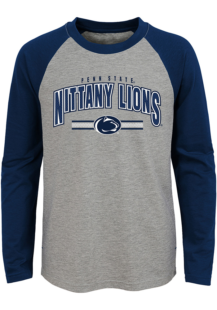 Penn State Nittany Lions Youth Grey Audible Long Sleeve Fashion T-Shirt - Image 1