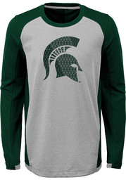 Michigan State Spartans Youth Grey Mainframe Long Sleeve T-Shirt