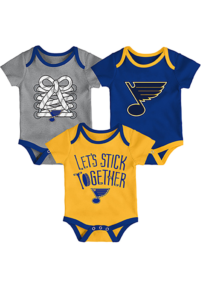 St Louis Blues Baby Blue Five on Three One Piece - Image 1