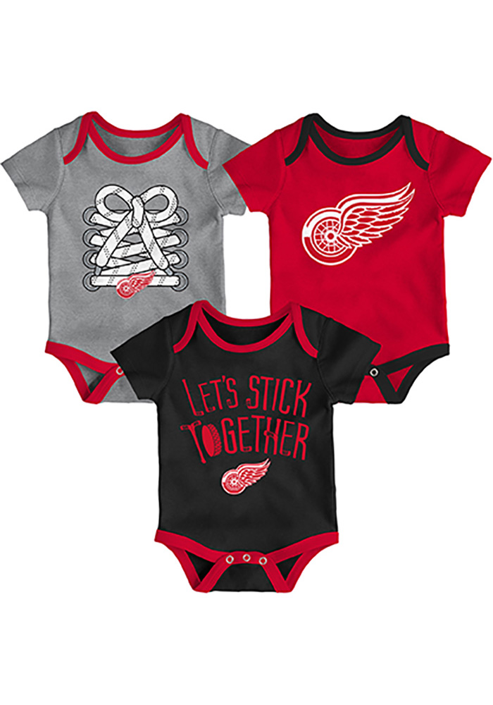 Detroit Red Wings Baby Red Five on Three One Piece - Image 1