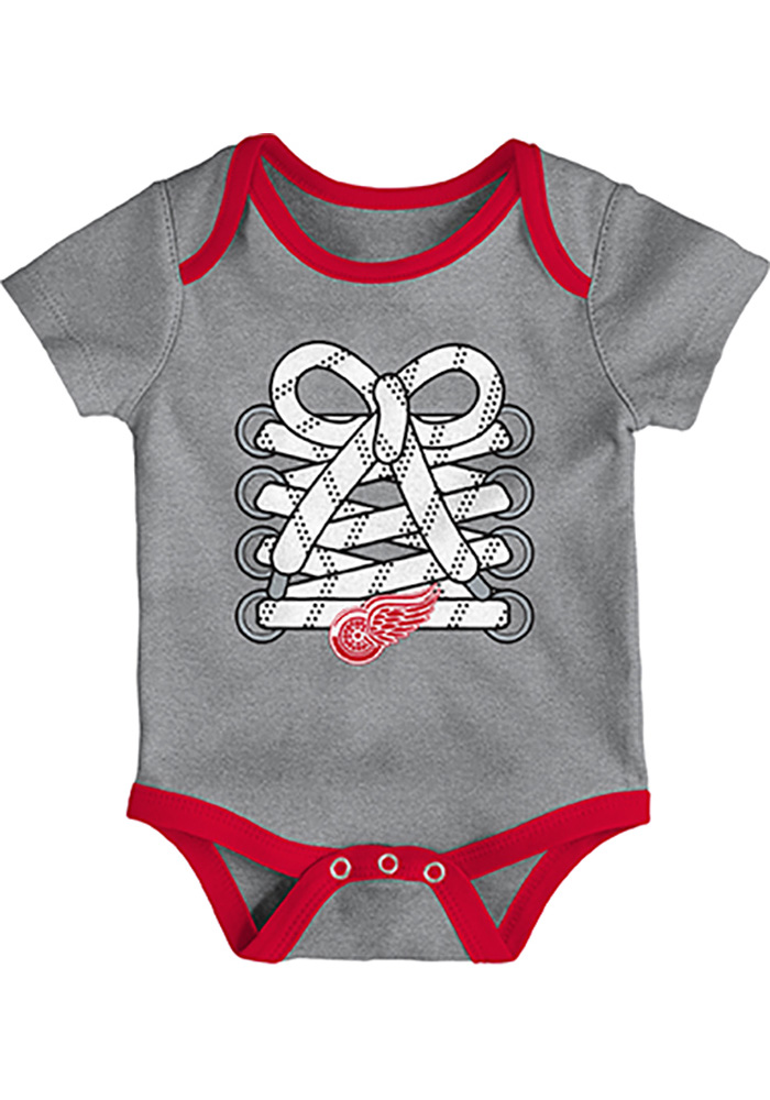 Detroit Red Wings Baby Red Five on Three One Piece - Image 3