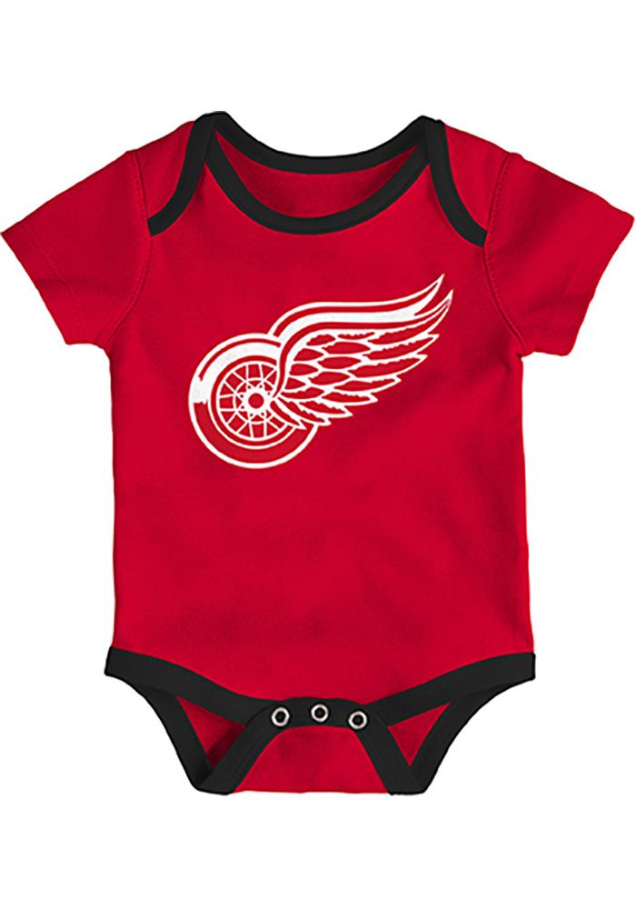 Detroit Red Wings Baby Red Five on Three One Piece - Image 4