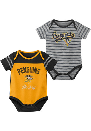 b197c031031 Pittsburgh Penguins Baby Black Dual Action One Piece