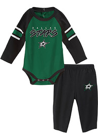 Dallas Stars Infant Pepper Pot Top and Bottom - Black
