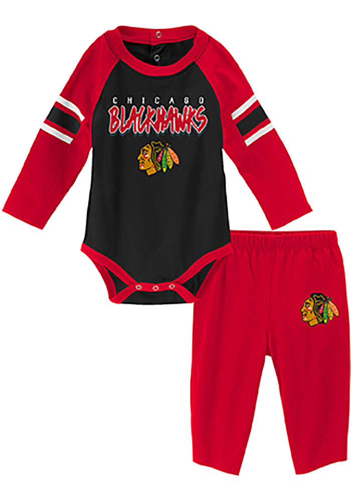 Chicago Blackhawks Baby Red Pepper Pot One Piece - Image 1