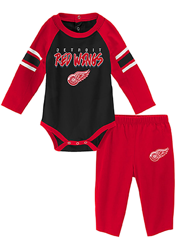 Detroit Red Wings Infant Red Pepper Pot Set Top and Bottom - Image 1