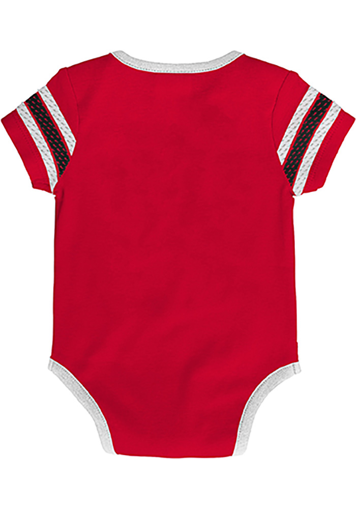 Detroit Red Wings Baby Red Cherry Picking Short Sleeve One Piece - Image 2