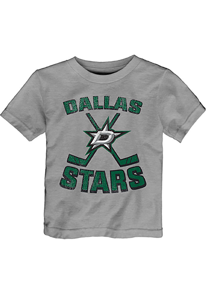 Dallas Stars Infant Double Crossed Short Sleeve T-Shirt Grey - Image 1
