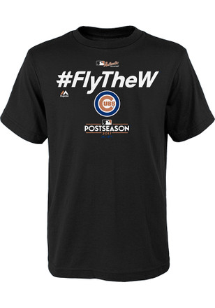 Chicago Cubs Youth Black Locker Room T-Shirt