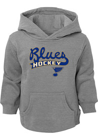 St Louis Blues Toddler Clean Sweep Hooded Sweatshirt - Grey