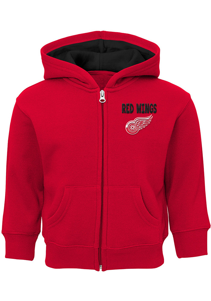 Detroit Red Wings Toddler Enforcer Long Sleeve Full Zip Sweatshirt - Red - Image 1