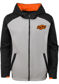 buy online 5dbc8 5965d Oklahoma State Cowboys Youth Grey Hi-Tech Full Zip Jacket