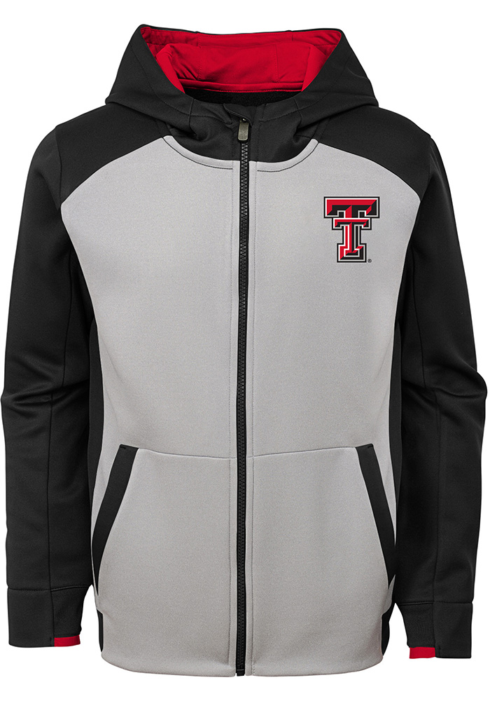 Texas Tech Red Raiders Youth Grey Hi-Tech Long Sleeve Full Zip Jacket - Image 1