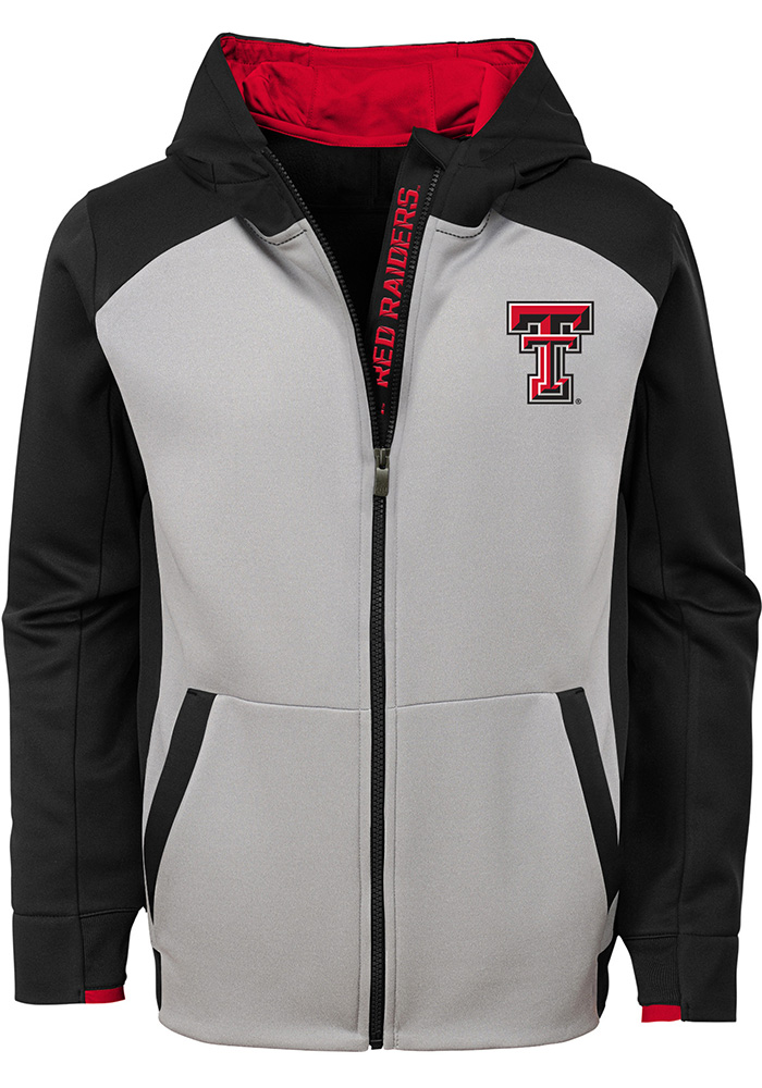 Texas Tech Red Raiders Youth Grey Hi-Tech Long Sleeve Full Zip Jacket - Image 2